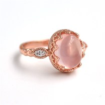 Aliexpress Com Buy Natural Pink Quartz Engagement Rings For
