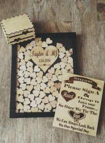 Guest Book For All Occasions Laser Cut Custom Wedding Guest Sign