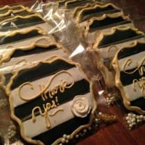 La Tea Dough Cookies Wedding Black, White, & Gold