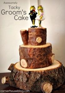 Log Inspired Groom's Cake