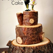 Log Inspired Groom's Cake
