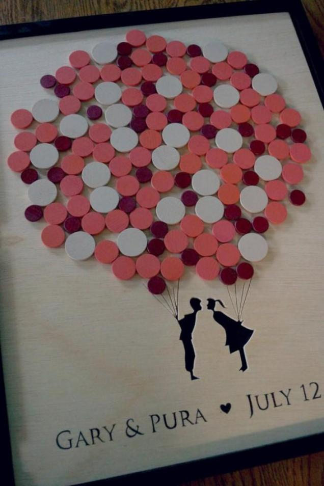 Shadow Box Wedding Guest Book Alternative Wedding Guest Book