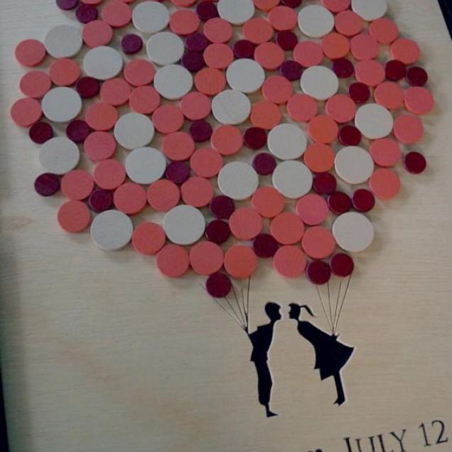 Shadow Box Wedding Guest Book Alternative Wedding Guest Book