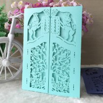 25pcs Hollow Out Decorative Lion Pattern Wedding Invitation Card