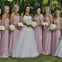 Amanda Wyatt Bridesmaid Dresses And Ronald Joyce Wedding Dress
