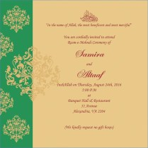 Wedding Card Personal Invitation Matter