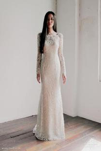 Lace Sheath Wedding Dress With Sleeves Naf Dresses