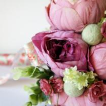 Blush Peony Bridal Bouquet, Silk Wedding Flowers, Vintage Wedding