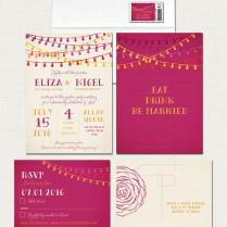 Fiesta Wedding Invitation And Rsvp Postcard