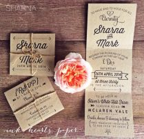 Fold Out Wedding Invitations The Infinite Pattern Vintage Camp