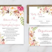 Garden Wedding Invitation Ideas Printable Wedding Invitation
