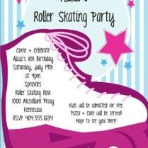 Girly Pink Roller Fabulous Girly Birthday Invitations