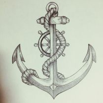 25 Anchor Rope Tattoos Designs