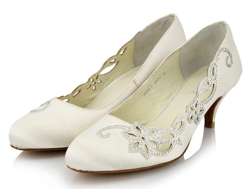 Vintage Wedding Shoes Low Heel