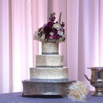 Wedding Cake With Lace Design That Matched My Wedding Dress