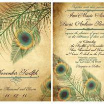 Wedding Peacock Invitations