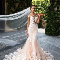 China Real Made Hot Sale Light Pink Mermaid Wedding Dress Photos