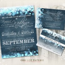 Snowflake Themed Wedding Invitations Snowflake Themed Wedding