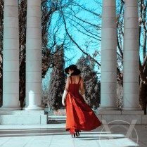 Red Dress In Cheesman Park Denver Photography Session