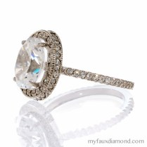 Vintage Oval Engagement Rings Cubic Zirconia Vintage Oval Cut Halo