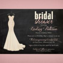 Wedding Dress Bridal Shower Invitation • Chalkboard Shower