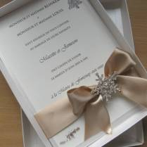 Winter Themed Luxury Boxed Wedding Invitation