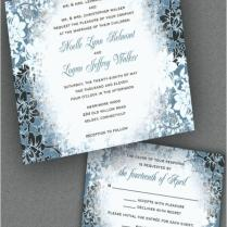 Winter Wonderland Themed Wedding Invitations Winter Wonderland