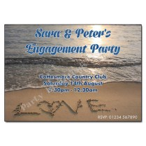 Love On A Beach Engagement Party Invitation