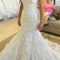 2019 Strapless Mermaid Wedding Dresses With Bling Bling Beads Lace
