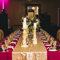 Vintage Modern Wedding Reception Decor, Long Feasting Table With