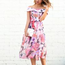 Lace And Locks, Petite Fashion Blogger, Off The Shoulder Floral