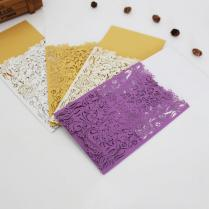 20pcs Pack Multiple Colour Laser Cut Elegant Invitation Card Blank
