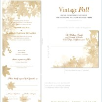 Vintage Wedding Invitation Kits