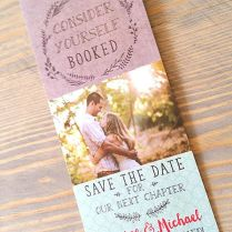 Save The Date Bookmark, Bookmark Save The Date, Save The Date