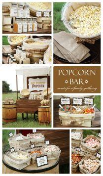 Olde Fashioned Rustic Popcorn Bar