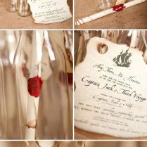 Message In A Bottle Invitations For A Pirate Themed Birthday