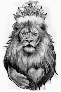 Black And White Lion Cool Tattoo Designs For Men!