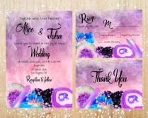 Boho Style Pink, Purple And Blue Crystals And Geodes Wedding