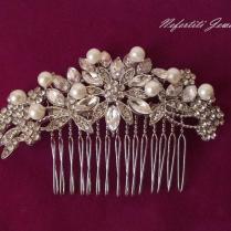 Bridal Hair Comb, Pearl Hair Comb, Wedding Hair Comb, Vintage