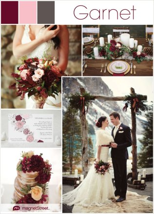 Color Monday Rustic Burgundy Wedding Ideas