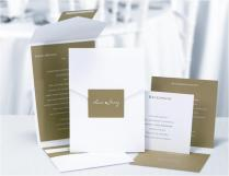 Olive Green And White Custom Pocket Style Wedding Invitations From