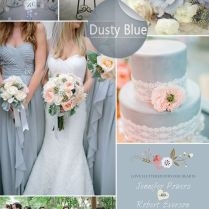Dusty Blue Inspired Wedding Color Ideas And Wedding Invitations