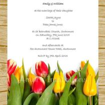 Diy Digital Printable Yellow & Red Tulips Wedding Birthday