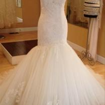 Enzoani Ivory Tulle And Lace Heather Modern Wedding Dress Size 6