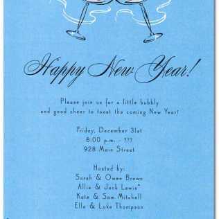 New Years Invite Wording