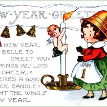 New Yearsrd Sayings Image Inspirationsrds Little Girl With Bell