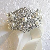 Pearl Bracelet, Ivory Pearl Bracelet, Cuff Bracelet, Bridal