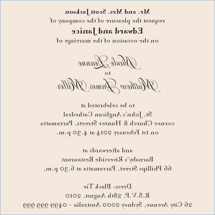 Wedding Dinner Party Invitation Wording