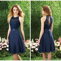Navy Blue Bridesmaid Dress, Short Bridesmaid Dress, Bridesmaid