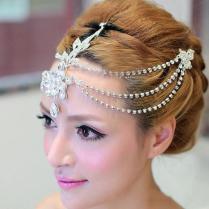2017 Gourgeous Bridal Hair Accessories Pearls Metal Bohemian Hair